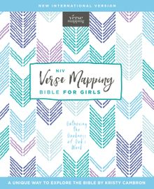 NIV, Verse Mapping Bible for Girls, Hardcover, Comfort Print