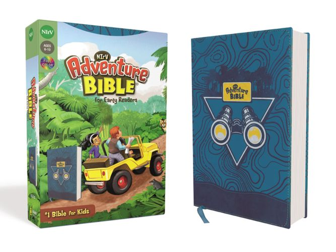 NIrV, Adventure Bible for Early Readers, Leathersoft, Blue, Full Color