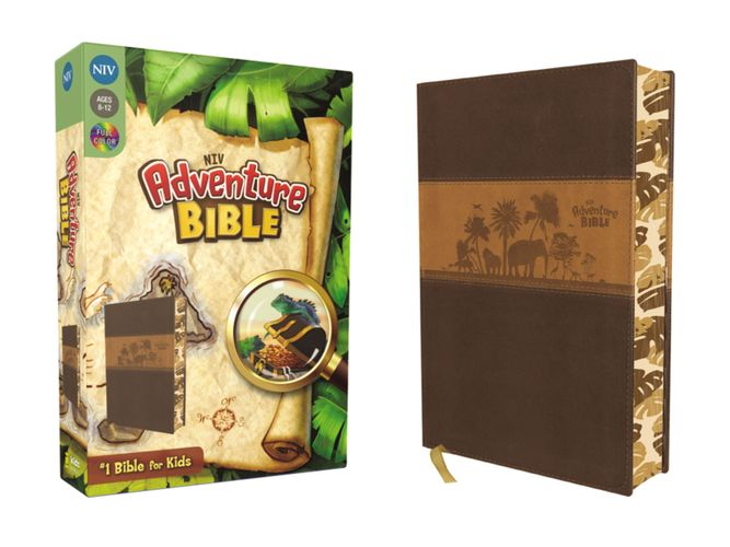 NIV, Adventure Bible, Leathersoft, Brown, Full Color