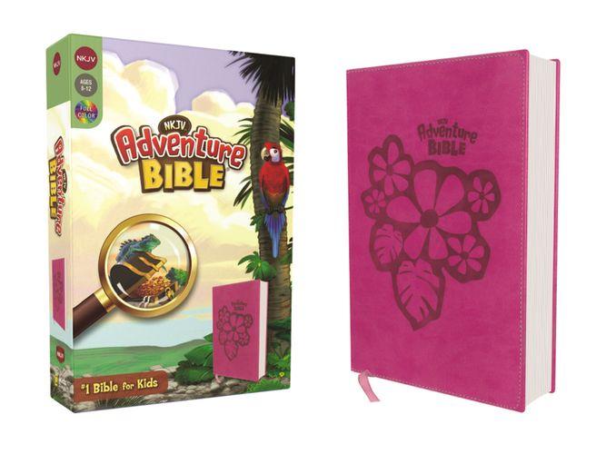 NKJV, Adventure Bible, Leathersoft, Pink, Full Color