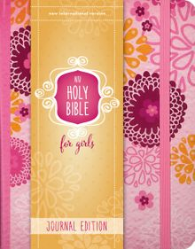 NIV, Holy Bible for Girls, Journal Edition, Hardcover, Pink, Elastic Closure