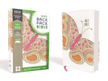 NIrV, Backpack Bible, Flexcover, Pink Butterfly