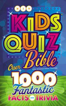 NIV, Kids' Quiz Bible, Hardcover, Comfort Print
