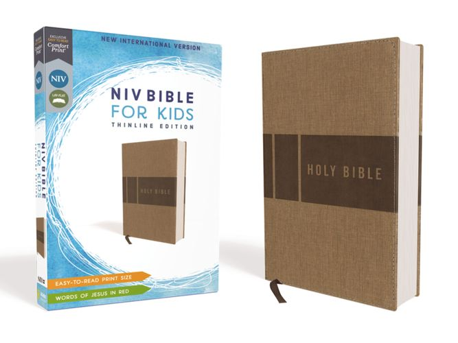 NIV, Bible for Kids, Leathersoft, Tan, Red Letter, Comfort Print