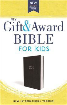 NIV, Gift and Award Bible for Kids, Flexcover, Black, Comfort Print