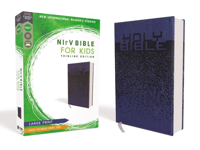 NIrV, Bible for Kids, Large Print, Leathersoft, Blue, Comfort Print
