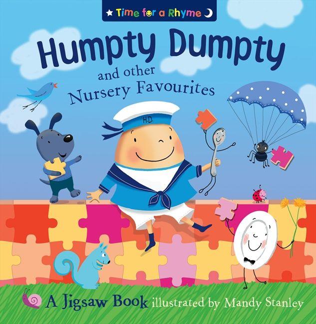 Nursery Book Cover Design ~ Humpty dumpty and other nursery rhymes jigsaw book