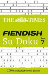 The Times Fiendish Su Doku Book 7: 200 challenging Su Doku puzzles