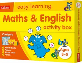 Maths and English Activity Box Ages 3-5: Ideal for Home Learning (Collins Easy Learning Preschool)