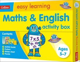 Maths and English Activity Box Ages 5-7: Ideal for Home Learning (Collins Easy Learning KS1)