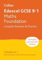 Edexcel GCSE 9-1 Maths Foundation All-in-One Revision and Practice (Collins GCSE 9-1 Revision) Paperback  by Collins GCSE