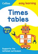 Times Tables Ages 5-7: Prepare for school with easy home learning (Collins Easy Learning KS1) Paperback  by Collins Easy Learning