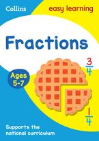 Fractions Ages 5-7: Prepare for school with easy home learning (Collins Easy Learning KS1) Paperback  by Collins Easy Learning