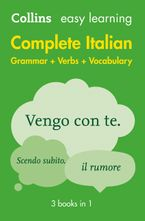 Easy Learning Italian Complete Grammar, Verbs and Vocabulary (3 books in 1) (Collins Easy Learning Italian) Paperback  by Collins Dictionaries