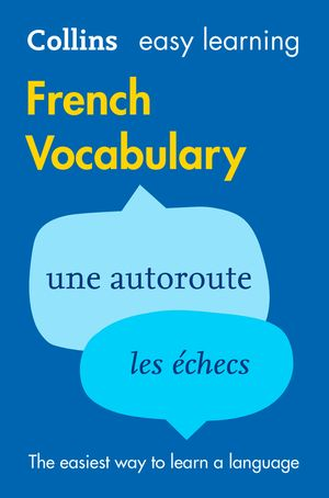 Easy Learning French Vocabulary (Collins Easy Learning French) book image