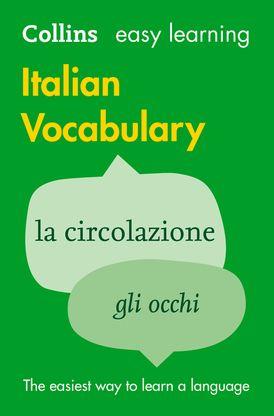 Easy Learning Italian Vocabulary