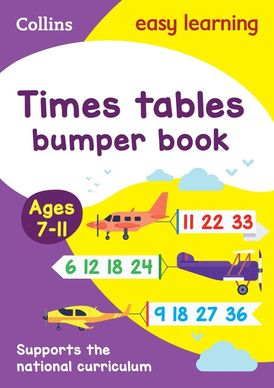 Times Tables Bumper Book Ages 7-11 (Collins Easy Learning KS2)
