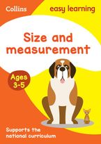 Size and Measurement Ages 3-5: Prepare for Preschool with easy home learning (Collins Easy Learning Preschool) Paperback  by Collins Easy Learning