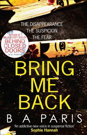Cover image - Bring Me Back