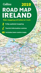 2019 Collins Map of Ireland Sheet map, folded NED by Collins Maps