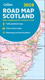 2019 Collins Map of Scotland Sheet map, folded NED by Collins Maps