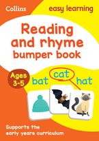 Reading and Rhyme Bumper Book Ages 3-5: Reception English Home Learning and School Resources from the Publisher of Revision Practice Guides, Workbooks, and Activities. (Collins Easy Learning Preschool) Paperback  by Collins Easy Learning