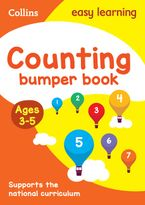 Counting Bumper Book Ages 3-5: Reception Maths Home Learning and School Resources from the Publisher of Revision Practice Guides, Workbooks, and Activities. (Collins Easy Learning Preschool) Paperback  by Collins Easy Learning