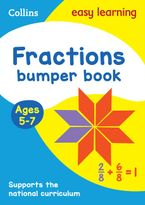 Fractions Bumper Book Ages 5-7: KS1 Maths Home Learning and School Resources from the Publisher of Revision Practice Guides, Workbooks, and Activities. (Collins Easy Learning KS1) Paperback  by Collins Easy Learning