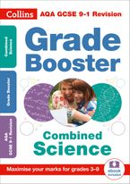 AQA GCSE 9-1 Combined Science Trilogy Grade Booster for grades 3-9 (Collins GCSE 9-1 Revision) Paperback  by Collins GCSE