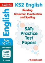 KS2 English Reading, Grammar, Punctuation and Spelling SATs Practice Test Papers (School pack): 2018 tests shrink-wrapped school pack (Collins KS2 SATs Practice) Paperback  by Collins KS2