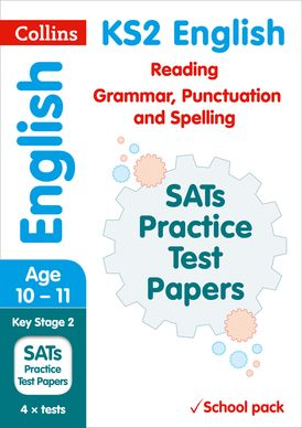 KS2 English Reading, Grammar, Punctuation and Spelling SATs Practice Test Papers (School pack): 2018 tests shrink-wrapped school pack (Collins KS2 SATs Practice)
