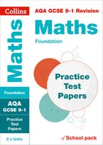 AQA GCSE 9-1 Maths Foundation Practice Test Papers: Shrink-wrapped school pack (Collins GCSE 9-1 Revision) Paperback  by Collins GCSE