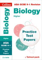 AQA GCSE 9-1 Biology Higher Practice Test Papers: Shrink-wrapped school pack (Collins GCSE 9-1 Revision) Paperback  by Collins GCSE