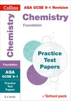 AQA GCSE 9-1 Chemistry Foundation Practice Test Papers: Shrink-wrapped school pack (Collins GCSE 9-1 Revision) Paperback  by Collins GCSE