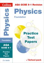 Collins GCSE 9-1 Revision – AQA GCSE 9-1 Physics Foundation Practice Test Papers: Shrink-wrapped school pack Paperback  by Collins GCSE