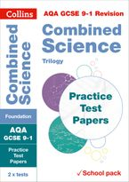 AQA GCSE 9-1 Combined Science Foundation Practice Test Papers: Shrink-wrapped school pack (Collins GCSE 9-1 Revision) Paperback  by Collins GCSE