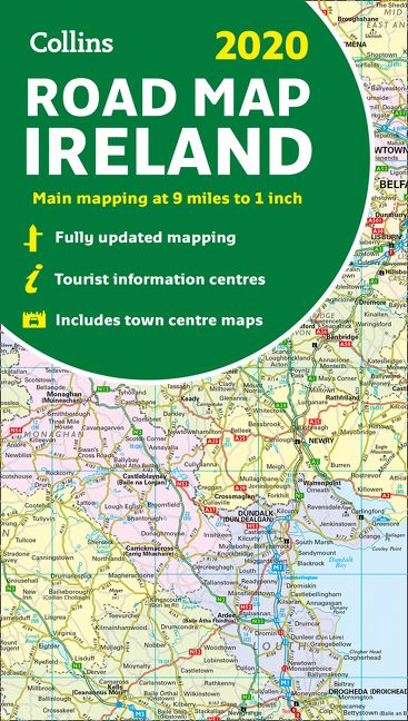 2020 Collins Map of Ireland - Collins Maps - Sheet map, folded on cuba map, britain map, portugal map, africa map, german map, british isles map, greece map, thailand map, poland map, japan map, denmark map, europe map, united states map, india map, norway map, iceland map, scotland map, wales map, germany map, irish map, new zealand map, kenya map, spain map, czech republic map, france map, netherlands map, australia map, italy map, england map, cyprus map, egypt map, uk map, malaysia map,