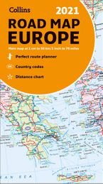 Map of Europe 2021: Folded road map (Collins Road Atlas) Sheet map, folded  by Collins Maps
