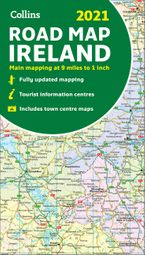 Map of Ireland 2021: Folded road map (Collins Road Atlas) Sheet map, folded NED by Collins Maps