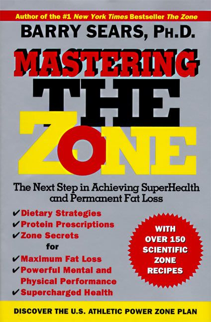 Food Book Cover Zone ~ Mastering the zone barry sears hardcover