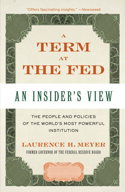 Book cover image: A Term at the Fed: An Insider's View