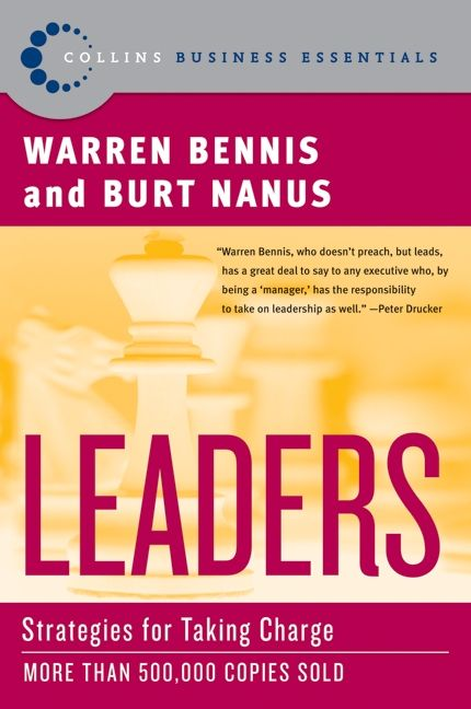 Book cover image: Leaders: Strategies for Taking Charge