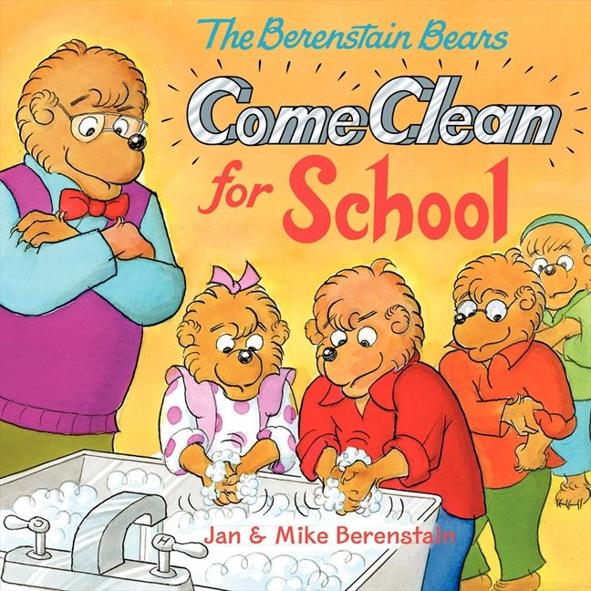 Children School Book Cover ~ The berenstain bears come clean for school jan