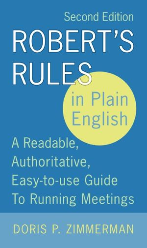 Robert's Rules in Plain English, 2nd Edition book image