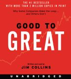 Good to Great CD-Audio UBR by Jim Collins