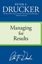 Book cover image: managing for results