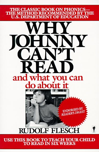 Why johnny cant read rudolf flesch paperback enlarge book cover fandeluxe Choice Image