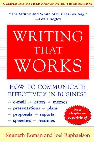 Writing That Works, 3rd Edition book image