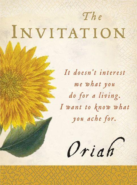 the invitation oriah paperback