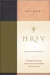 NRSV Standard Bible (tan/black)